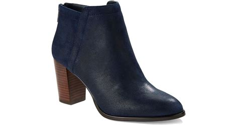 424 fifth larita suede booties in blue save 6 lyst