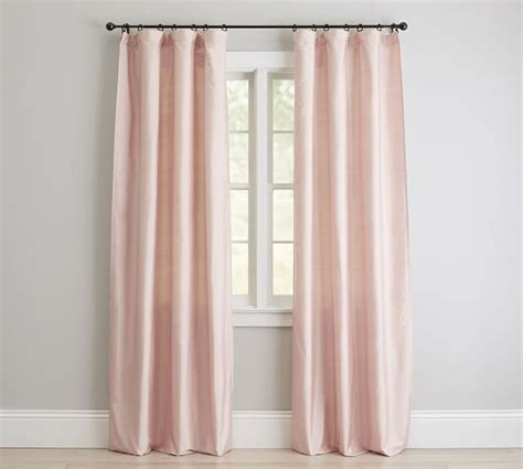 silk drape dupioni silk pole pocket drape brownstone pottery barn