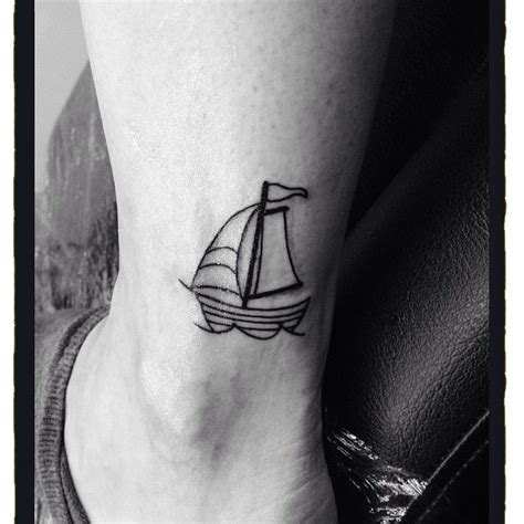 small sailboat tattoo 1000 ideas about boat tattoos on sailboat