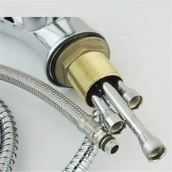 folsom brushed nickel finish kitchen sink faucet with pull