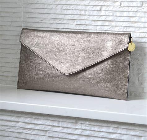 metal clutch personalised metallic clutch bag by