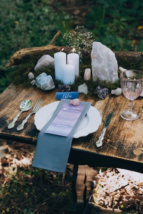 eclectic earth geode  crystal wedding ideas happinest