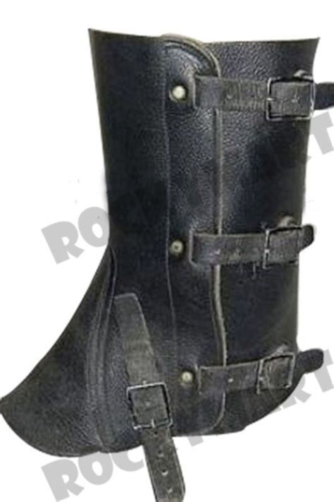 vintage swiss army black leather gaiters quality motorcycle wear lqqk swiss army