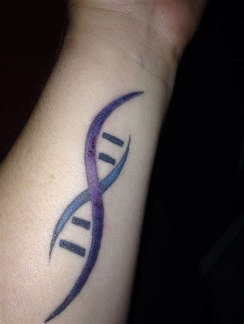 dna tattoo touch up on my dna for huntington s disease my
