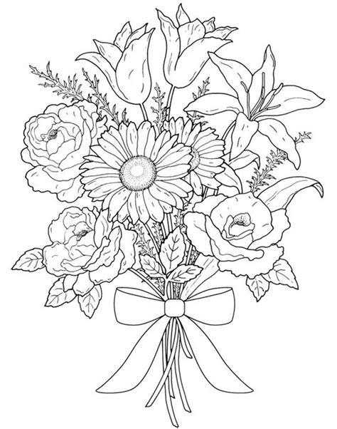 Gambar Mewarnai Bunga Matahari,Mawar,Tulip,Melati