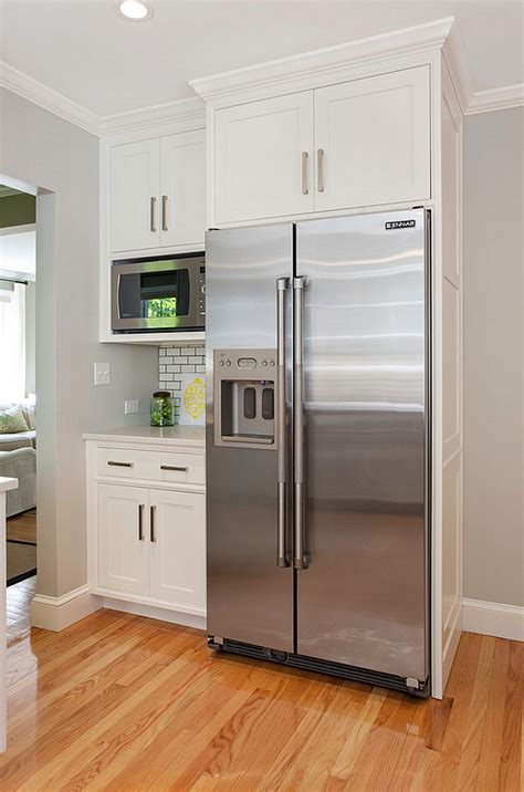 fridge kitchen cabinet modern farmhouse kitchen design home bunch interior