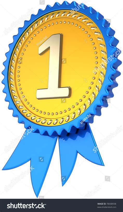 award ribbon golden badge first place winner success