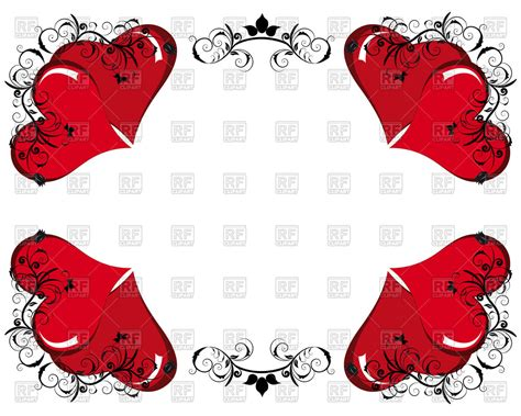valentines frames day frame with hearts royalty free vector clip