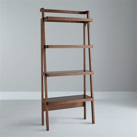 gazelle bookcase walnut asian bookcases by lewis
