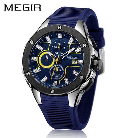 megir sport chronograph silicone quartz