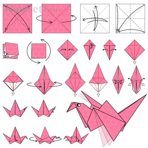 How To Make An Origami Bird Step By Step - origami flapping bird origami and origami on