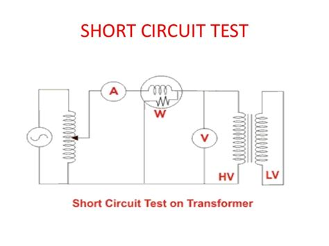 open testing open circuit and circuit test on transformer