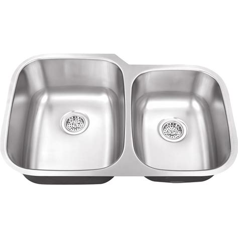 Brushed Steel Kitchen Sink Ipt Sink Company Undermount 32 In 16 Stainless Steel Kitchen Sink In Brushed Stainless
