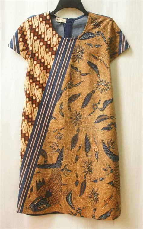 Dress Batik Sogan Motif diagonal puzzled dress sogan klambi batik