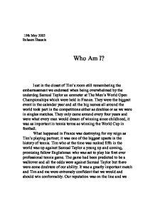 Exle Of Who Am I Essay by Who Am I Gcse Marked By Teachers