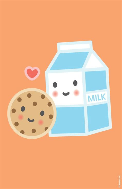 wallpaper chocolate cute poster milk cookie gift ideas pinterest cookies