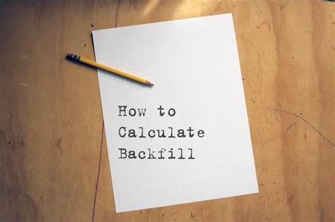 how to calculate backfill with pictures ehow