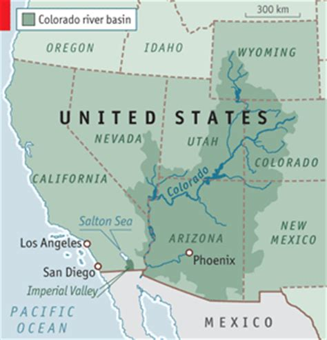where does the colorado river start and end think green water in the south west