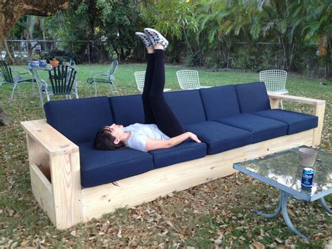 outdoor sofa with storage diy outdoor sofa