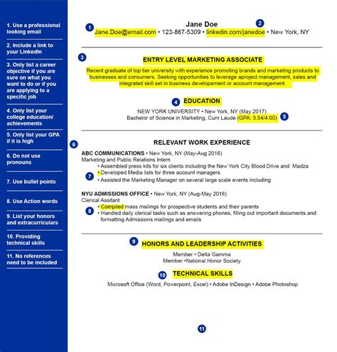 How Do You Set Up A Resume by The Best Way To Set Up Your Resume For College Grads