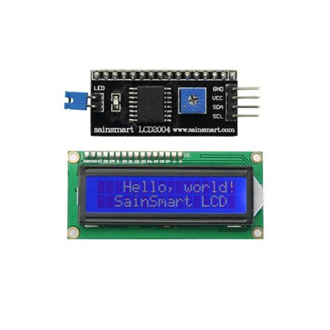 Lcd Arduino 2x16 lcd display 2x16 blue with i2c interface s electronic