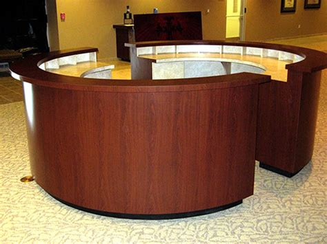 Portable Reception Desk Sunpro Custom Creations Custom Kiosk Design Manufacturing Reception Areas Bookstores
