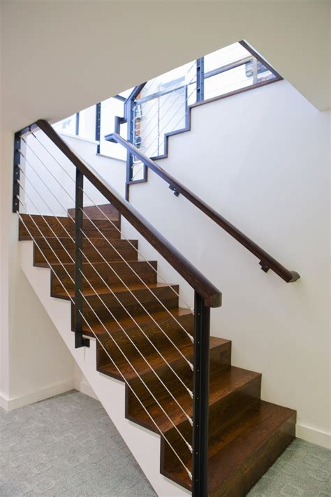 Modern Staircase Ideas Stair Railing Ideas Staircase Modern With Carpet Texture Basement