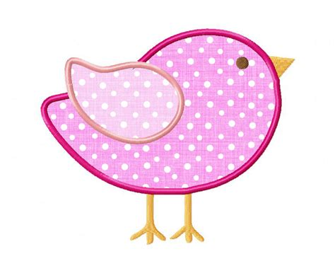 Embroidery Applique Design by Bird Applique Machine Embroidery Design
