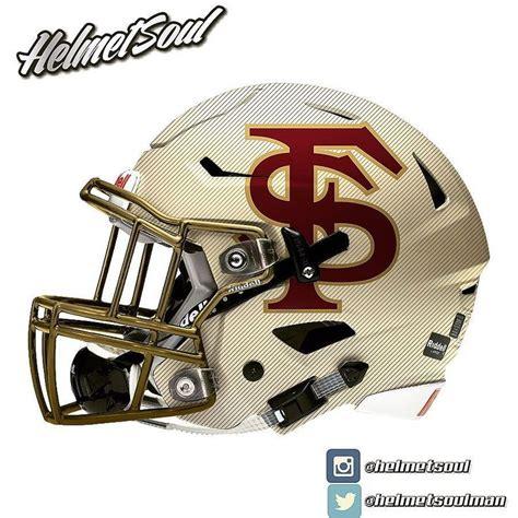 football helmet design ideas alt logo and light gold pinstripe shell another new fsu