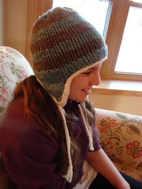 knit hat with ear flaps free patterns earflap hat knit