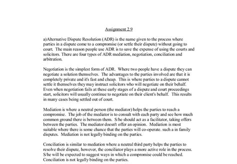 Alternative Dispute Resolution Essay by Conflict Resolution Essay Conflict Resolution Essay Conflict Resolution Paper Conflict