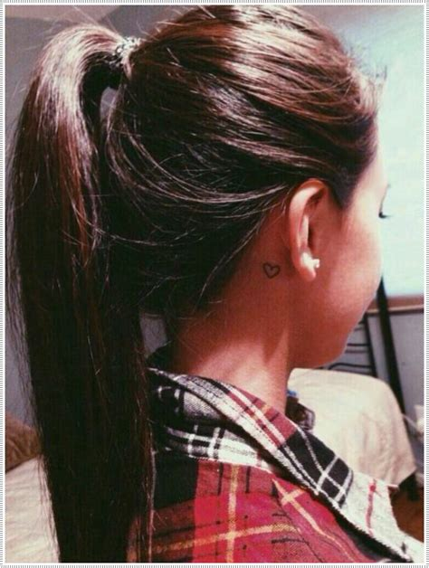 Tattoo Behind Ear Wash Hair | 101 small tattoos for girls that will stay beautiful