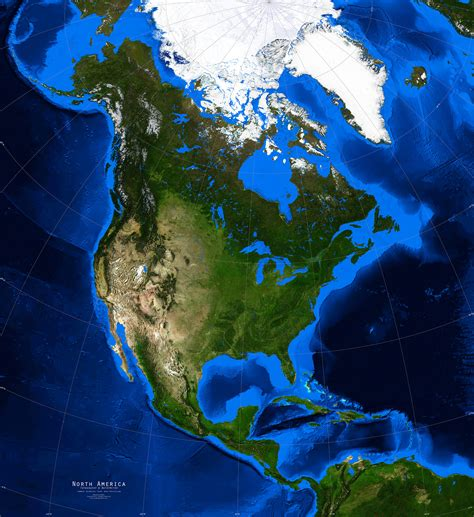 usa maps view america satellite image giclee print topography