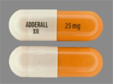 Adderall Ingredients Make Home by Adderall Xr 25 Mg Pill Images Orange White Capsule Shape