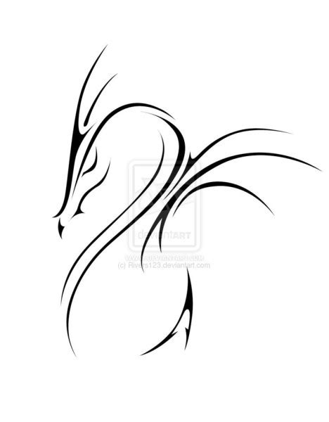 tattoo outline creator 73 simple dragon tattoos designs and ideas collections