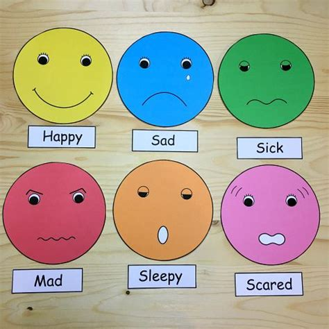 emotional themes in stories feelings faces for preschool and kindergarten kids