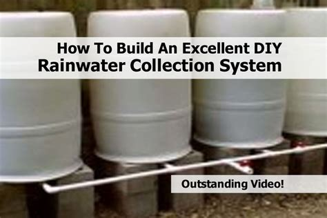 build  excellent diy rainwater collection system