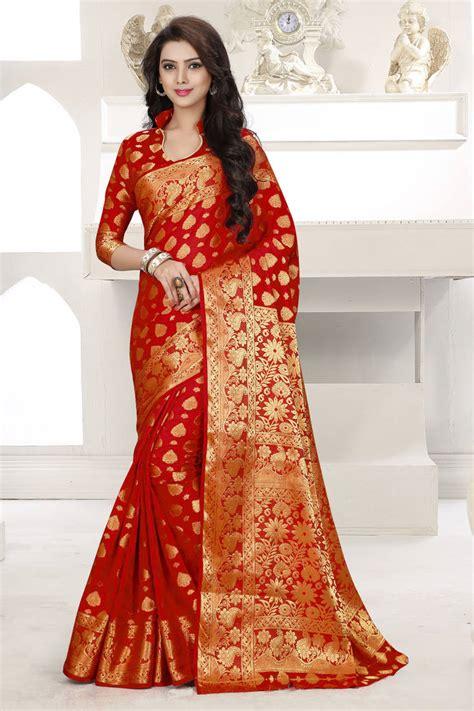Chayra Blouse Au Collections buy plain banarasi silk saree with blouse