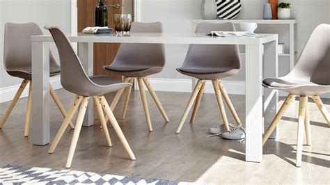 Six Seater Dining Table And Chairs Modern Grey Gloss Dining Table 6 Seater Dining Table Uk
