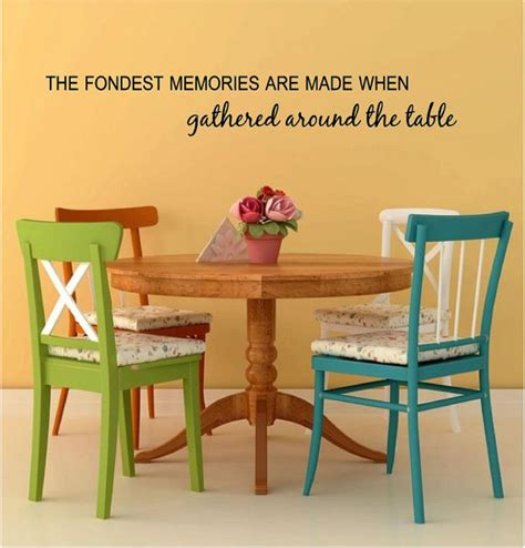 the fondest memories are made when gathered around the table