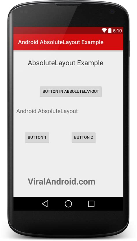 layout exles in android android absolute layout exle viral android