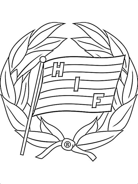 emblem of hammarby if coloring page coloring pages