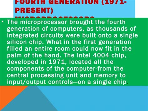 integrated circuits built on silicon chips were introduced during the generation of computing integrated circuits built on silicon chips were introduced during the generation of computing