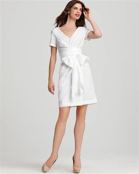 white wrapped white wrap dress dressed up