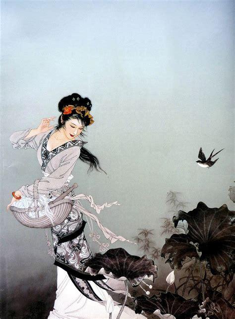 imagenes de japonesas y chinas mujeres chinas en la pintura cuaderno de retazos