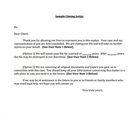 Closing Letter Friendly Letter Format Closing Best Template Collection