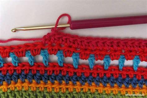 decke umhäkeln anleitung kostenlos schoenstricken de crochet along regenbogen babydecke teil 12