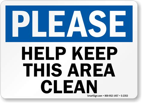 free printable keep area clean signs the gallery for gt please clean up after yourself sign