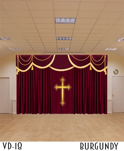 church stage curtains drapery styles for church