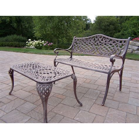 outdoor settee bench oakland living mississippi cast aluminum settee bench and